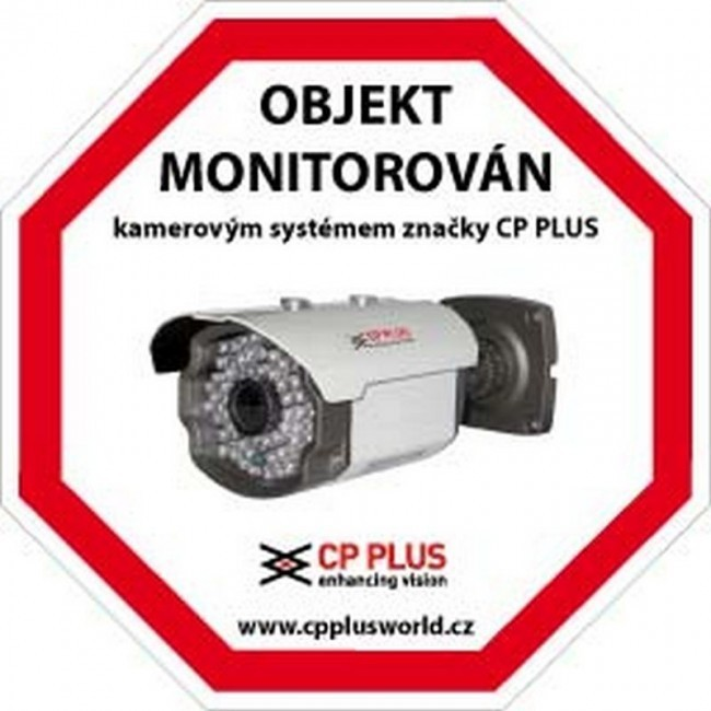 Výstražná samolepka CCTV - OBJEKT MONITOROVÁN